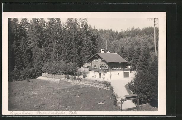 Foto-AK Igls, Landhaus Patscherkofel aus der Vogelschau