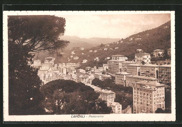 ak camogli panorama der stadt nr 5835116 oldthing ansichtskarten europa italien. Black Bedroom Furniture Sets. Home Design Ideas