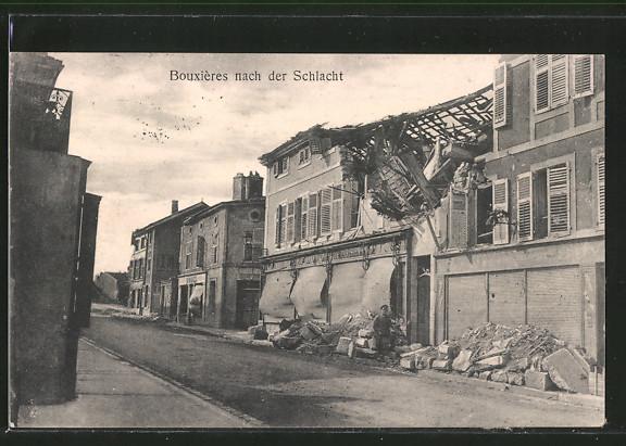 AK Bouxières, Trümmer eines Hauses nach der Schlacht 0