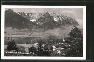 AK Walchsee, Ortsansicht mit Kaisergebirge