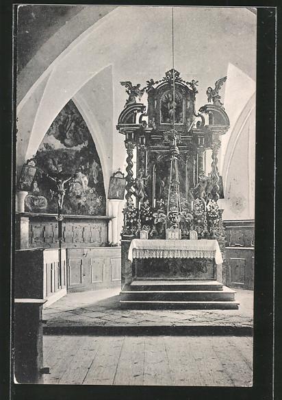 AK Waidring, Inneres der Kirche St. Adolari