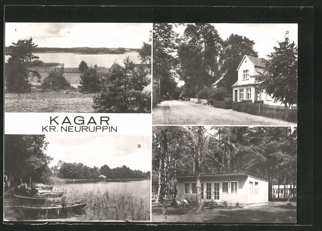 AK Kagar, Blick über den Braminsee, Teilansicht, Am grossen Zermittensee