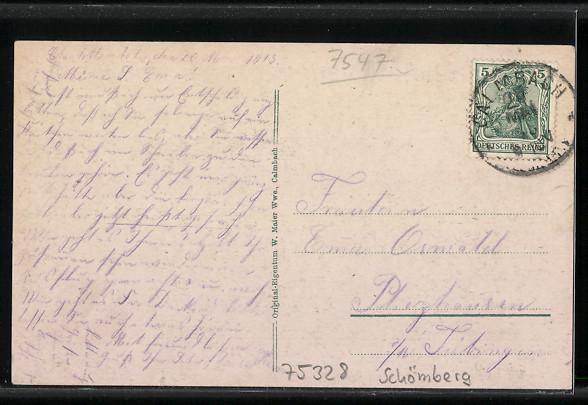 Ak Schömberg Heilstätte Charlottenhöhe Nr 5851778 Oldthing