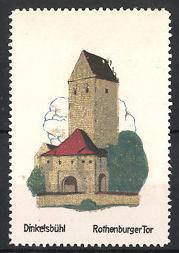 Reklamemarke Dinkelsbühl, Rothenburger Tor