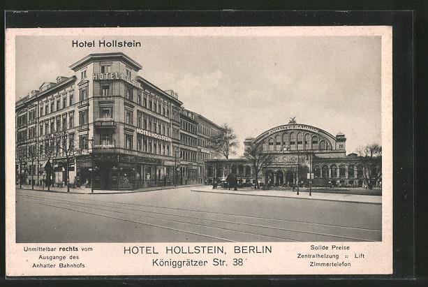 AK Berlin-Kreuzberg, Hotel Hollstein, Königgrätzer Strasse 38