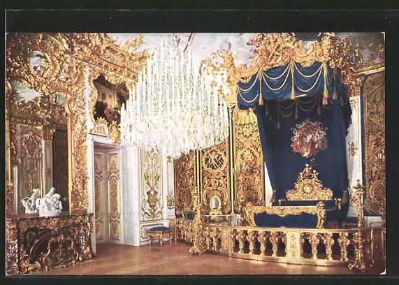 AK Schlafzimmer im Schloss Linderhof Nr. 5875908 - oldthing: Technik ...