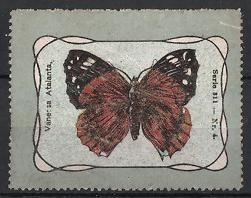 Reklamemarke Serie: Schmetterlinge, Vanessa Atalanta
