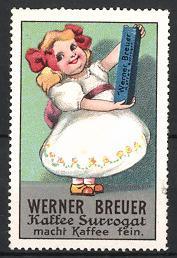 Reklamemarke Kaffee-Surrogat der Firma Werner Breuer,