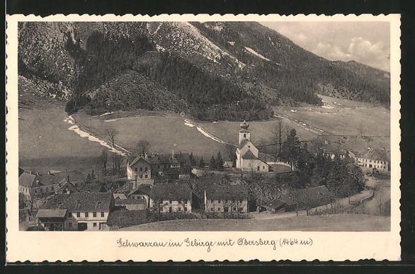 AK Schwarzau im Gebirge, Ansicht mit Obersberg