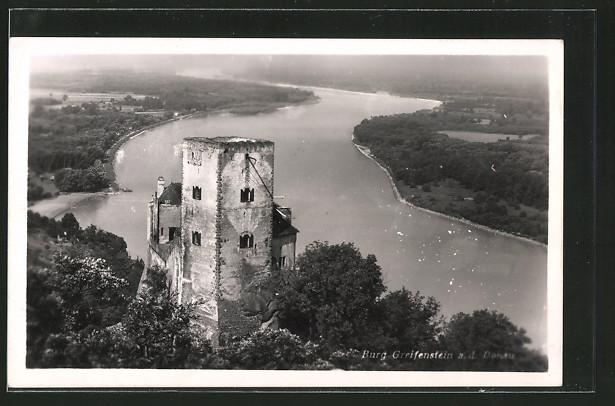 AK Greifenstein an der Donau, Burg mit Donaupanorama