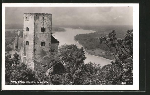 AK Greifenstein a. d. Donau, Blick auf die Burg