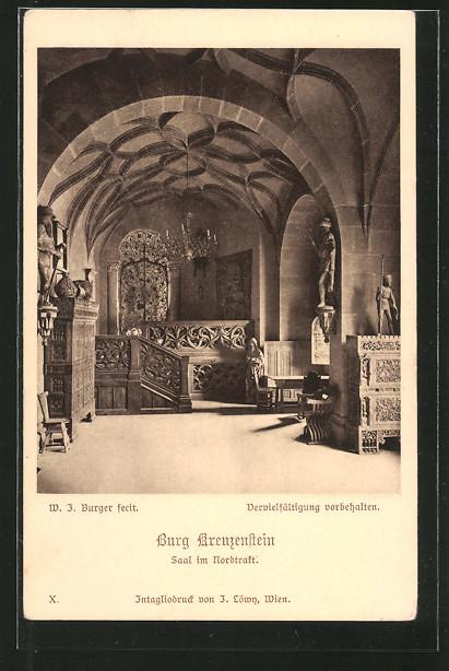 AK Leobendorf, Burg Kreuzenstein, Saal im Nordtrakt