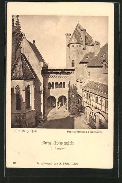 AK Leobendorf, Burg Kreuzenstein, Burghof