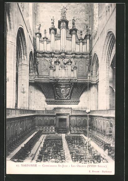 AK Narbonne, Orgel in der Kathedrale St-Just