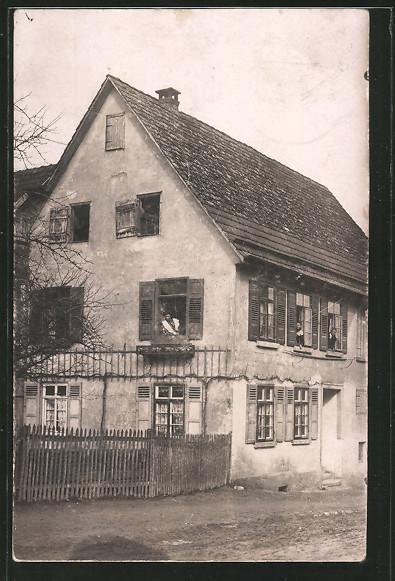 Foto-AK Waiblingen, Wohnhaus Stuttgarter Strasse 16 1910 jetzt Mayenner Strasse