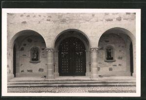 AK Fribourg, Echarlens, Nouvelle Eglise, L'etrée, Eingang zur neuen Kirche