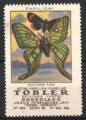 Reklamemarke Tobler Suisiana Lakto Chokolado, Papilioni, Schmetterlinge