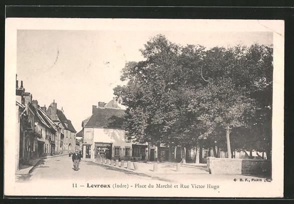 AK Levroux, Place du marché et rue Victor Hugo