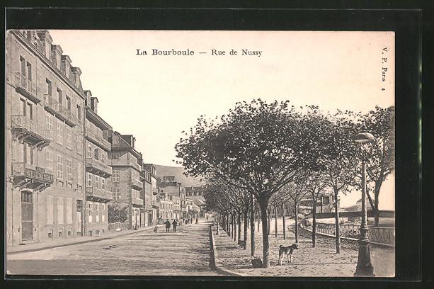 AK La Bourboule, Rue de Nussy, Ansicht mit Strassenpartie