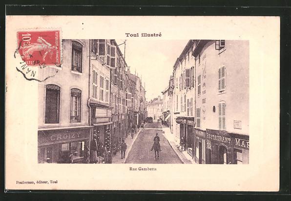 Präge-AK Toul, Rue Gambetta
