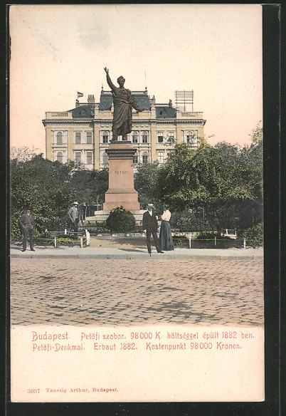 AK Budapest, Petöfi Denkmal