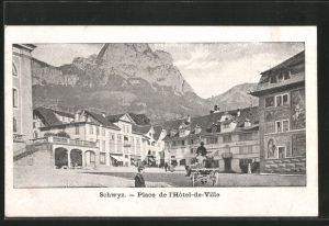 AK Schwyz, Place de l'Hotel de Ville