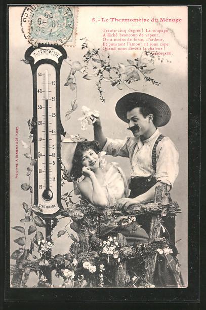 AK Le Themomètre de Ménage 5. Das Thermometer der Ehe