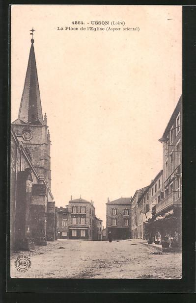 AK Usson, La Place de l'Eglise