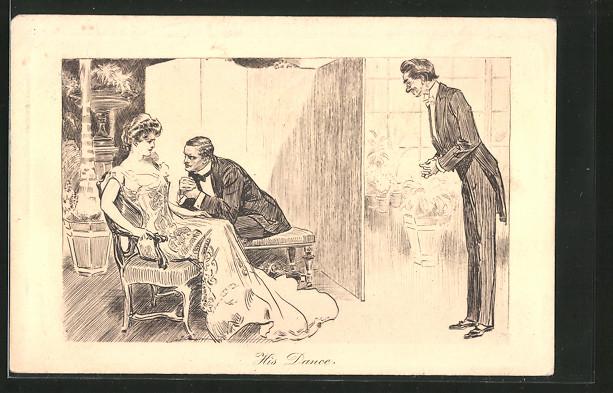 Künstler-AK Charles Dana Gibson: Gentleman bittet Dame um den nächsten Tanz