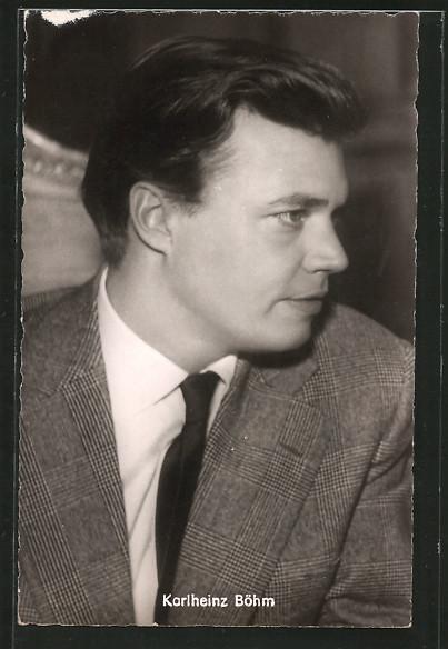 AK Schauspieler Karlheinz Böhm im Anzug