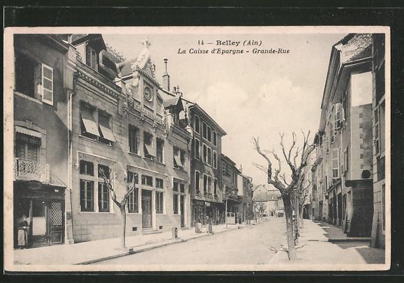 AK Belley, La Caisse d'Epargne, Grande Rue, Strassenpartie