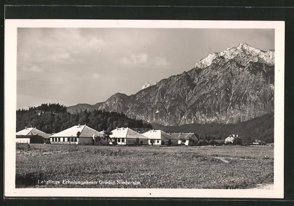 AK Grödig-Niederalm, Blick auf das Lehrlings Erholungsheim