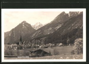 AK Gnadenwald, Blick zum Dorf
