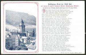 AK Hall, Ortsansicht, Huldigungs-Trunk an Erzherzog Eugen zum 600jähr. Stadt Jubiläum
