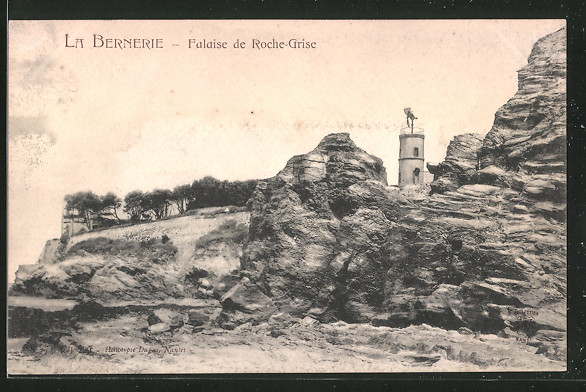 AK La-Bernerie, falaise du Roche-Grise