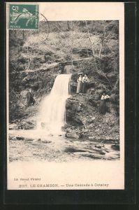 AK Le-Chambon, une cascade á Cotatay