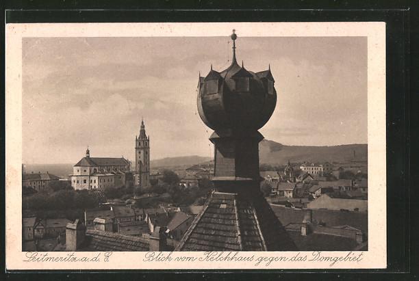 AK Leitmeritz / Litomerice, Blick vom Kelchhaus gegen das Domgebiet