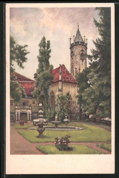 AK Teplitz Schönau / Teplice, Schlosskirche