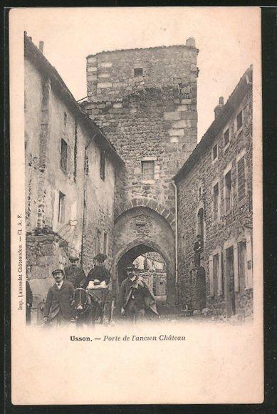 AK Usson, Porte de l'ancien Château