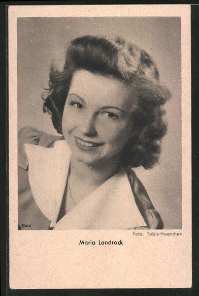 AK Schauspielerin Maria Landrock lächelnd in Kamera schauend