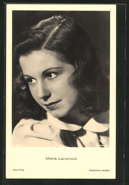 AK Schauspielerin Maria Landrock zur Seite schauend