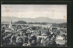 AK Hausen, Gesamtansicht mit Bergpanorama