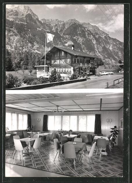 AK Blausee-Mitholz, Restaurant Balmhorn, Fam. Bichsler-Müller, Speiseraum