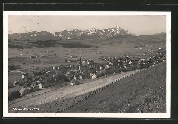 AK Gais, Panoramaansicht mit Säntis
