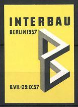 Reklamemarke Berlin, Ausstellung Interbau 1957, Messelogo