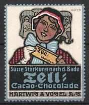 Künstler-Reklamemarke Paul Höfer,