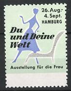 Reklamemarke Hamburg, Ausstellung für die Frau,