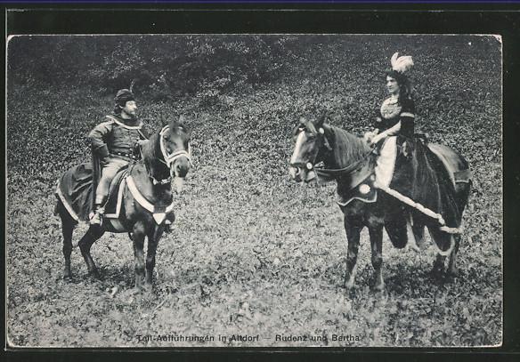 AK Altdorf, Tell-Aufführung, Rudenz und Bertha