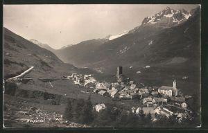 AK Hospental, Ortsansicht mit Bergpanorama