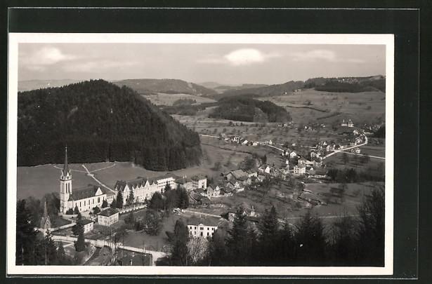AK Dussnang, Panoramaansicht mit Kur- und Wasserheilanstalt
